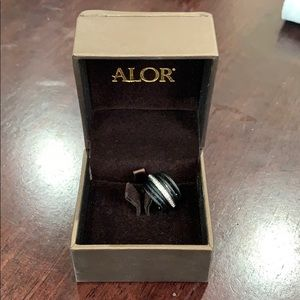 Alor black cable ring
